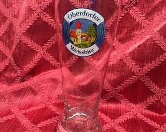 Beer Stein, Sahm Beer Mug, Oberdorfer Weissbier, Pilsner Glass, Vintage