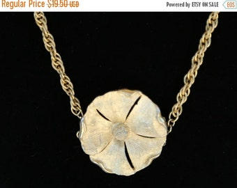 ON SALE Gold flower pendant chain