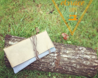 eGrace Upcycled Denim Clutch
