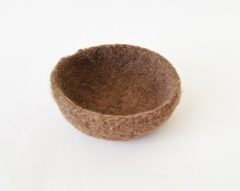 Felted Bowl - Brown Medium