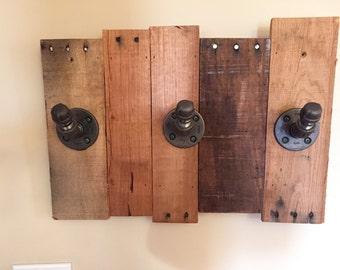 Reclaimed Wood & Industrial Pipe Coat Rack