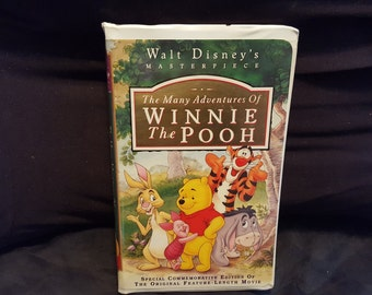 Disney Masterpiece Collection The Many Adventures Of Winnie The Pooh Vhs