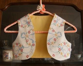 Girl's 3/4T Bolero Vest, Girl's Vest 3/4T, Toddler Vest 3/4T, Vintage Vest