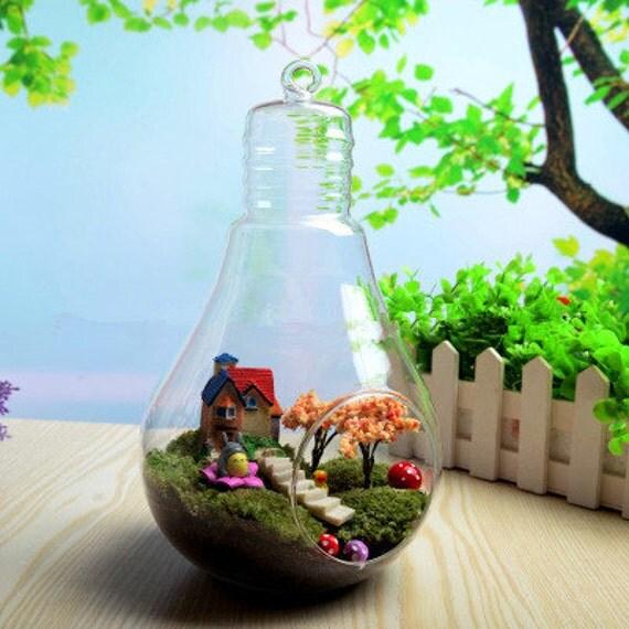 h ngende lampe terrarium luft pflanzen inhaber indoor. Black Bedroom Furniture Sets. Home Design Ideas