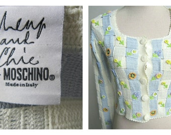 Vintage Moschino knit cardigan and top