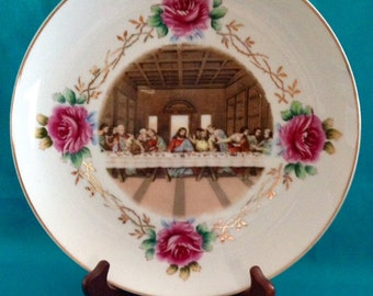 The Last Supper With Thorn Rose Pattern Plate