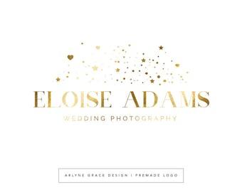 Premade Logo - Predesigned Logo - Photography Logo - Business Logo - Logo Design - Gold Logo - Rose Gold Logo - Boutique Logo - Modern Logo
