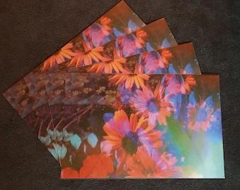 Art Print, Floral Art, Boho Home Decor, Hippie Home, Mixed Media Art, Abstract Wall Art, Nature Print, Psychedelic Art, 'Summer Daydream'