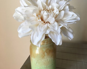 Mason jar with flower