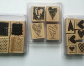 Stampin Up Sets 3 Complete Sets New Hearts Cards Crafts Scrapbooks Stamp Sets Rubber Stamps