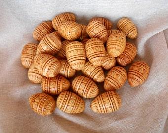 "1pc. Carved Pysanka Wooden Easter Eggs Ukrainian Pysanky Easter Gift UKRAINE Pysanka Ukrainian souvenir 2,6"""