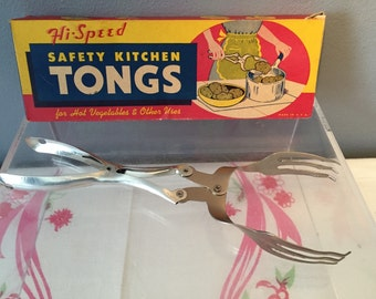 Hi-Speed Safety Kitchen Tongs