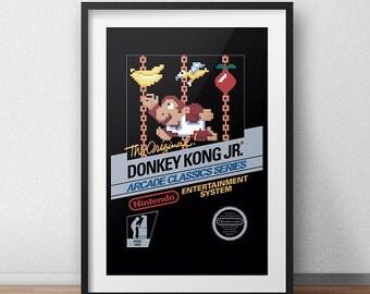 Donkey Kong Jr. Original NES Box print