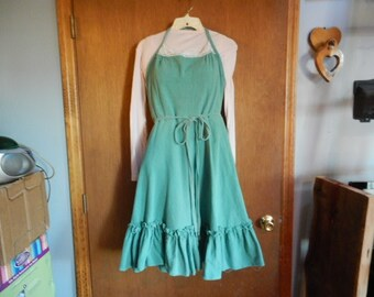 vintage wrap around halter sundress
