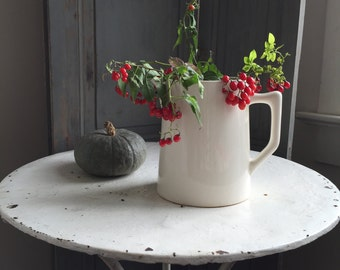 Vintage French ironstone pitcher
