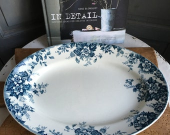 Vintage French ironstone oval platter
