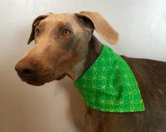 Med/Large Green with Envy Dog Bandana