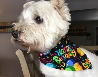 Small Birthday Party Dog Bandana