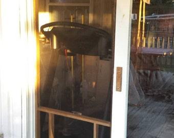 Wooden Temporary Screen Door - DOGGY DOOR