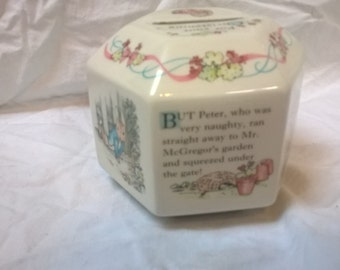 Wedgwood Peter Rabbit Bank  for a Christening