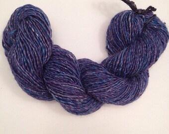 Lilac Sea Urchin Handspun Single Ply Yarn 144 Yards