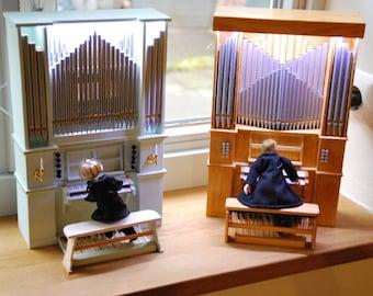 The luminous organs - miniature organ models made in manual work