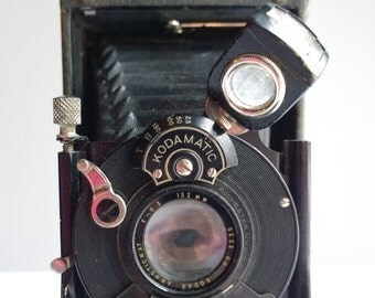 1920s Eastman Kodak 2c Autographic Special Model A Camera with Original Leather Case