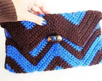 30% OFF crochet purse, bags and handbags, women's handbags, women's accessories, crochet zig zag, chevron