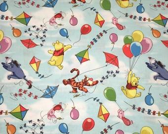 Winnie the POOH & Friends Balloon Designer Apparel Quilting Baby 100% Cotton Fabric 1 Yard