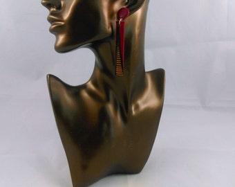 earring, stem, Burgundy, yellow, elegant, pendant, tissues wax