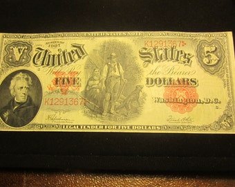 Large Five Dollar Series Of 1907 United States Note F-91