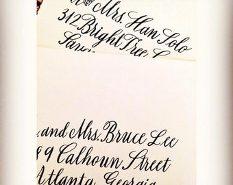 """The """"Savannah"""" style outer envelope calligraphy"""