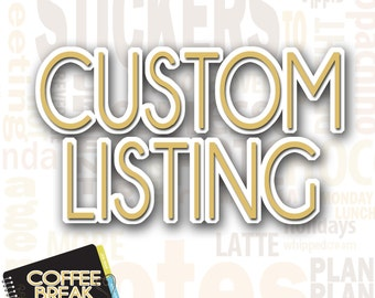 Custom Sticker Request | Please Read Full Description Before Purchasing|Mini 1.75 Sheets