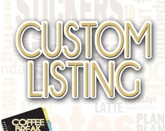 Custom Sticker Request | Please Read Full Description Before Purchasing|
