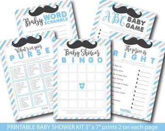 Mustache baby shower games, Mustache baby boy shower theme, Little man mustache game, Mustache bash, Mustache shower game, BY162