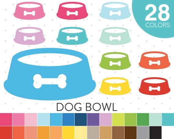 clipart dog bowl - photo #48