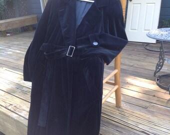 Just put on HALF OFF. Was 120. Vintage black velvet trench coat.