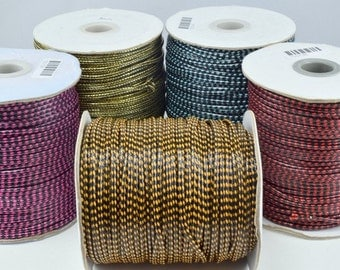 Wax Nylon two tone Color Thread 2mm cord for jewelry or fashion making from Korea