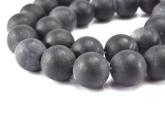 Matte Dusty Onyx Round Gemstone Beads 4mm/6mm/12mm/14mm/16mm/18mm loose gemstone,birthstone for Jewelry Making