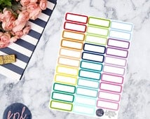 Quarter White Center Boxes Planner Stickers. Set of 32. Perfect for Erin Condren Life Planners! 046