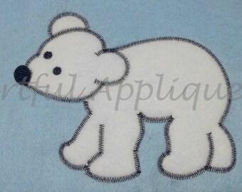 Vintage Zig Zag Applique Bear Design
