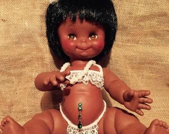 """OOAK vintage repurposed doll - """"Junk in Her Trunk"""""""