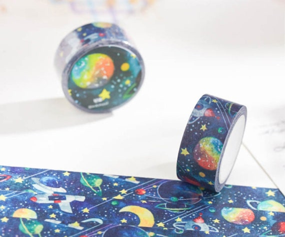 Space Planets Washi Tape Roll 20mm X 10m Stars Rocket