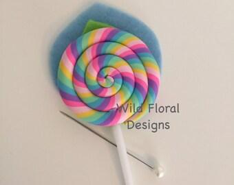 Lollipop candy buttonhole