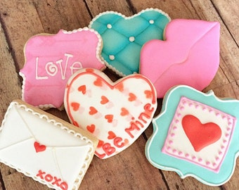 Valentines sugar cookie package