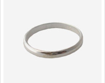 Thumb Ring Band / 2mm Wide / Sterling Silver or 14k Gold / Super Comfortable