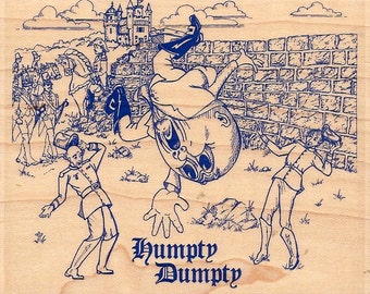 Stampabilities HUMPTY DUMPTY Nurdery Rhymes Mounted Rubber Stamp