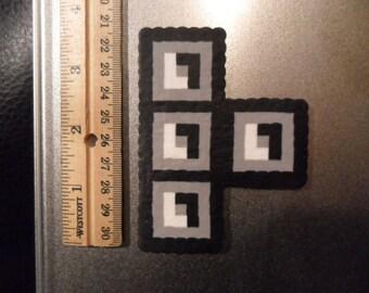 Tetris Perler Bead Magnet