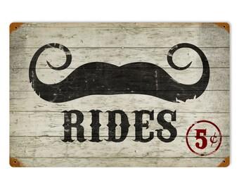 Mustache Rides 5 Cents