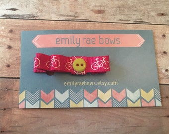 Pink bicycle bow
